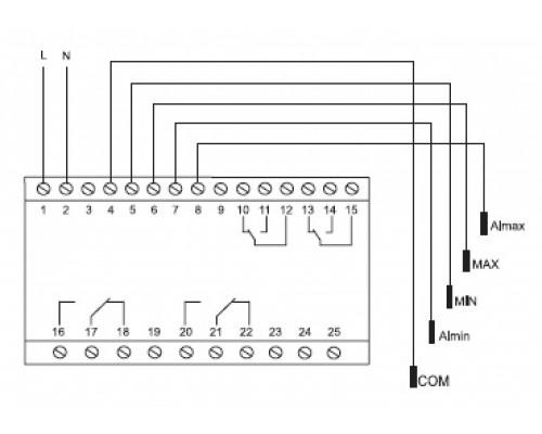 PZ-832. Схема подключения