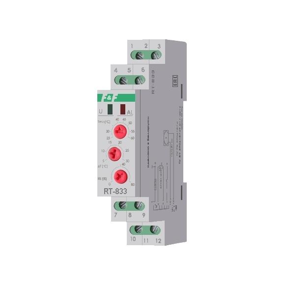 Регулятор температуры  RT-833 на Din-рейку с датчиком