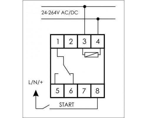 Многофункциональное реле времени PCS-517 на Din-рейку. Схема подключения