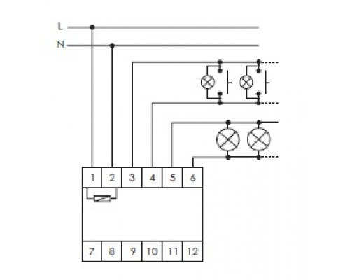 Регулятор освещенности (диммер) SCO-814 на Din-рейку. Схема подключения