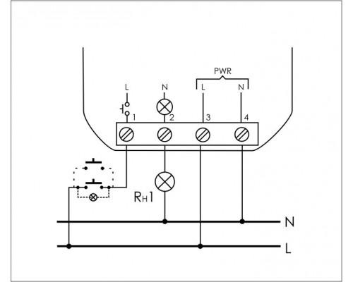 Реле импульсное (лестничный автомат) BIS-402. Схема подключения