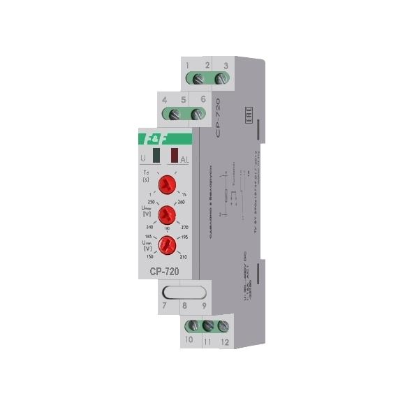 Реле контроля напряжения однофазнное CP-720 на Din-рейку