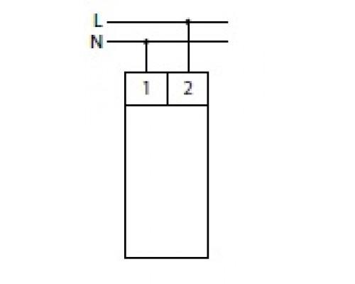 Индикатор напряжения однофазный WN-711 на Din-рейку. Схема подключения