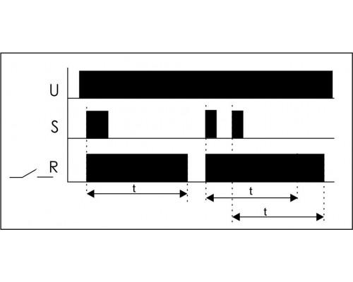 Автомат лестничный ASO-205. Схема подключения
