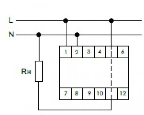 Индикатор тока однофазный WT-1 на Din-рейку. Схема подключения