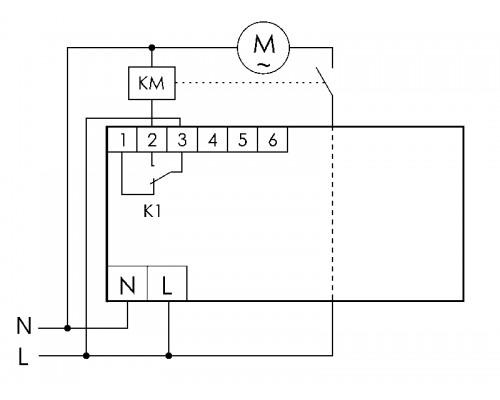 Реле защиты электродвигателей AZD-1 на Din-рейку. Схема подключения