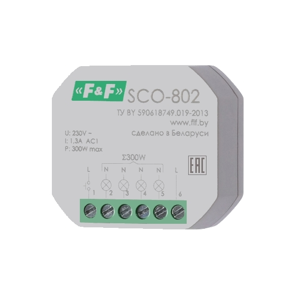Регулятор освещенности (диммер) SCO-802