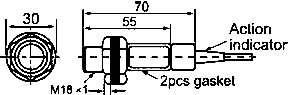 Ёмкостные датчики серии СМ18. Размеры