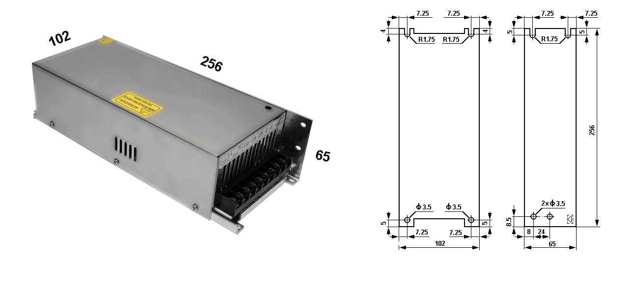 Источники питания серии DS-400-12, DS-400-24
