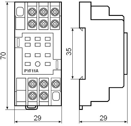 Клеммная колодка PYF11A